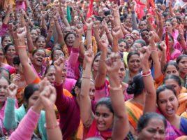Greve camponesa contra o agronegócio na Índia em 2020, considerada a maior greve da história